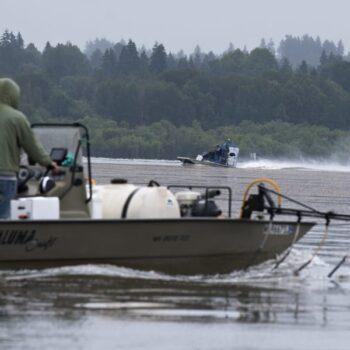 Boats at Vancouver Lake