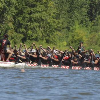 Dragon Boat Racing Vancouver Lake 6