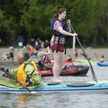 Kayaking Vancouver Lake 2