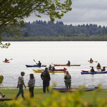 Kayaking at Vancouver Lake