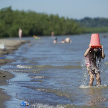 Kid Swimming Vancouver Lake 2